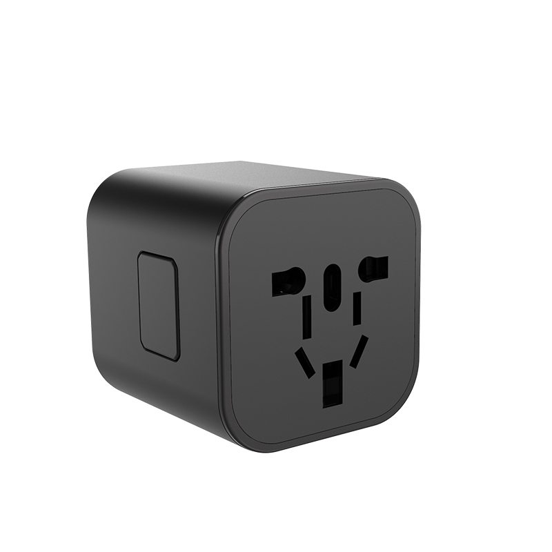 WiWU UA101 Black ABS+PC Material Universal Travel Adapter For Video Game Player