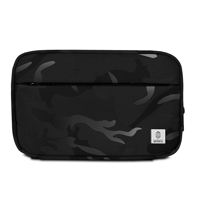 WiWU Camou Travel Pouch Gadget Electronics Accessories Waterproof Nylon Camouflage Fabric Storage Bag