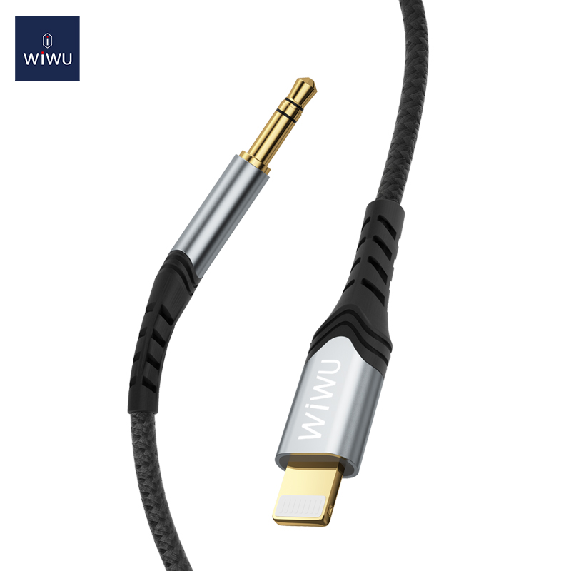 WiWU YP-02 3.5mm To IOS Stereo Audio Adapter Cable Stereo150cm Length for IPhone Tablet