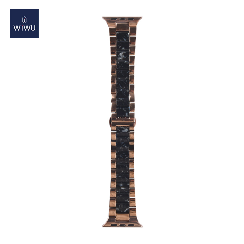 WiWU Stylish Quick Resin Watch Band Adjustable Metal Loop Replacement Waist Band Strap 38 40 42 44mm