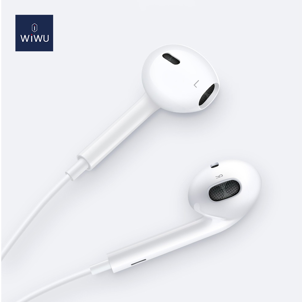 WiWU Mobile Plug In-ear High Quality Wired Earphone No Need Bluetooth Lightning Earbuds Compatible for All Devices