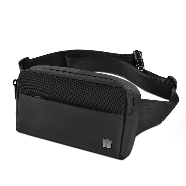 WiWU Metro Mate Waterproff Nylon Fanny Pack Slim Waist Chest Pack Adjustable Strap Pouch Bag