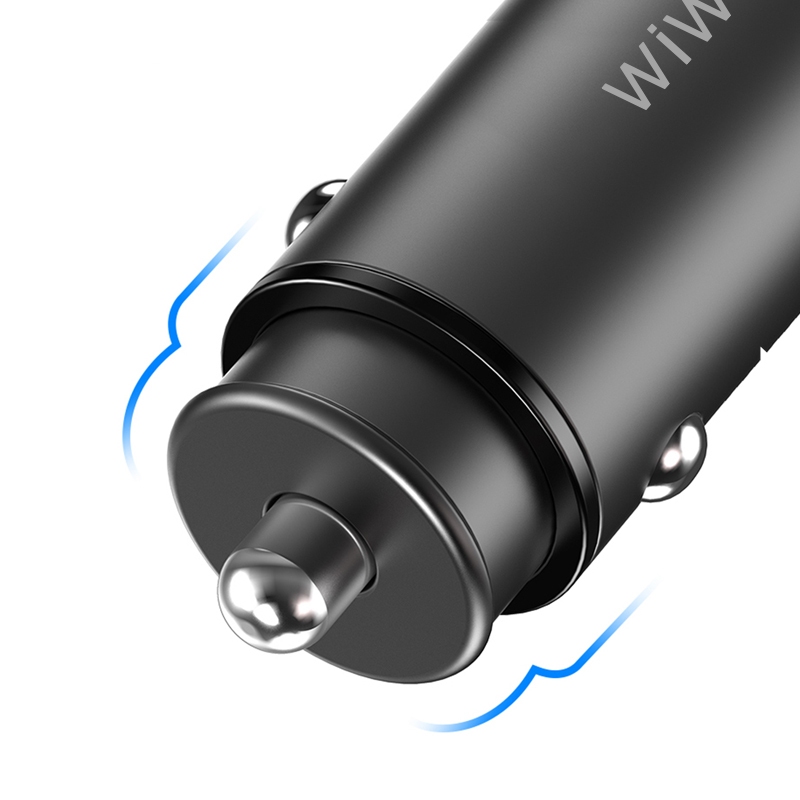 WiWU PL301 Mini Car Charger 5A Small Pull Ring QC 4.0 Fast Charge in-car