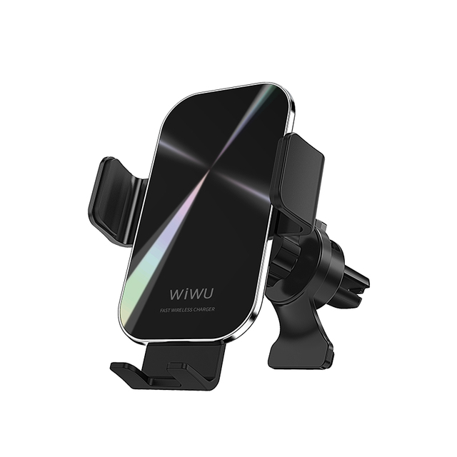 WiWU CH-307 Universal Air Vent Car Phone Mount Holder 15W Wireless Fast Charge One Touch Close & Release Smart Charing Stand